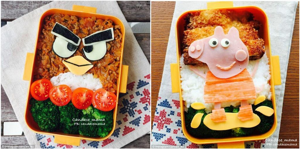 Cute Lunch Boxes With Famous Cartoon Characters From Caring Instagram Mum