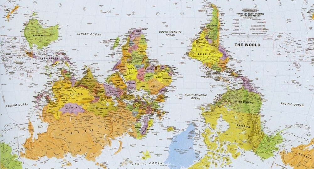 The world map through the eyes of different countries look4ward world map south africa gumiabroncs Image collections