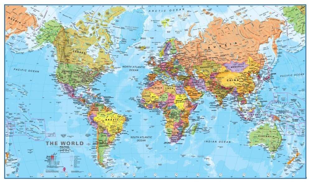 The World Map Through The Eyes Of Different Countries Lookward - World map pacific ocean