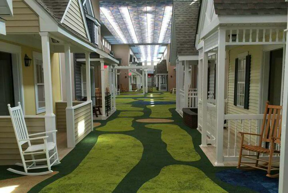 Nursing home designed to look like friendly environment Oh design