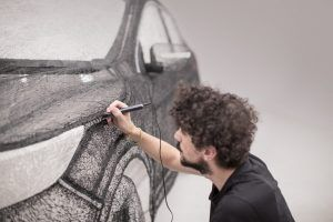 Students-Managed-To-Create A-Colossal-3D-Pen-Sculpture-Of Nissan-Car