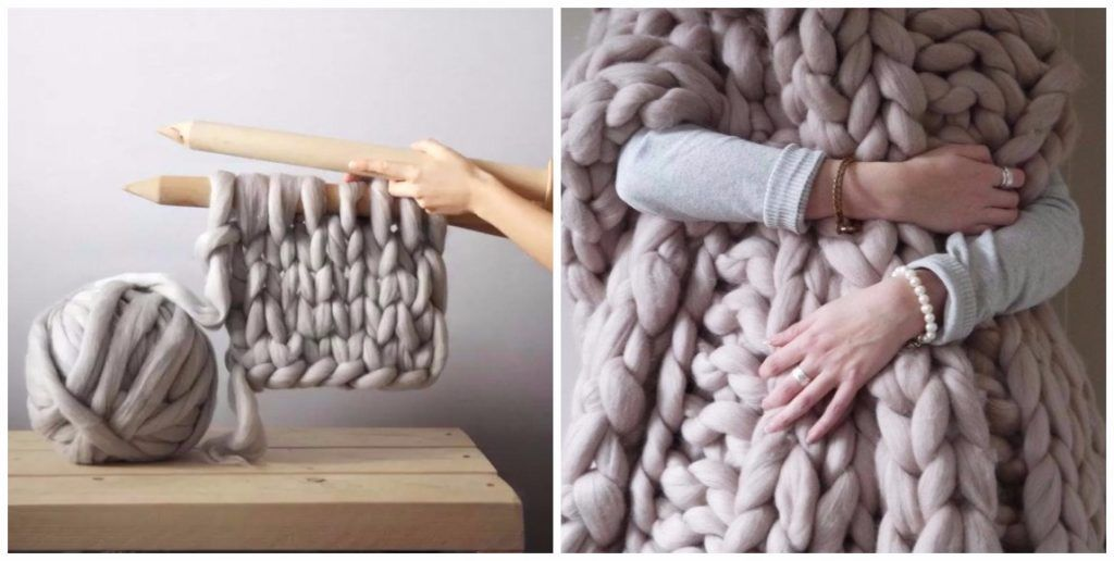Knit Your Own Cozy Blanket Less Than In 4 Hours