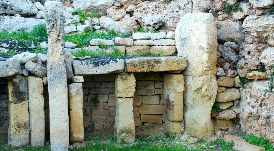 ancient temple on island of Gozo