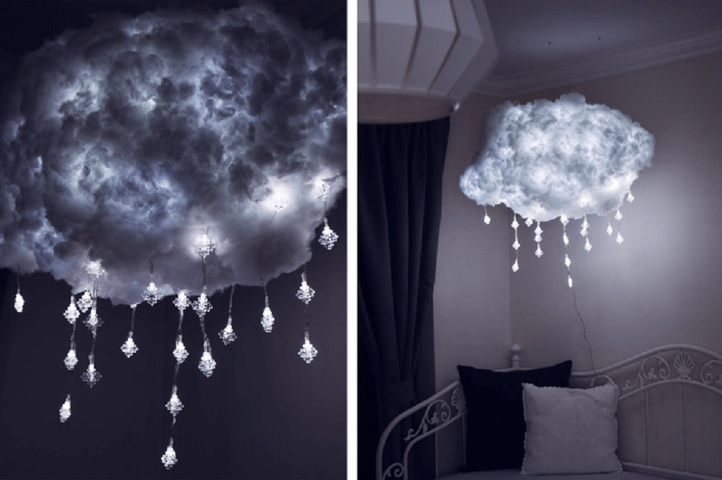 "Levitating DIY Cloud Light Brings ""Storm"" Into Your Room"