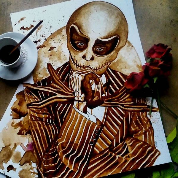 Coffee Art: Artist Paints Stunning, Detailed Portraits Of Celebrities Using Coffee