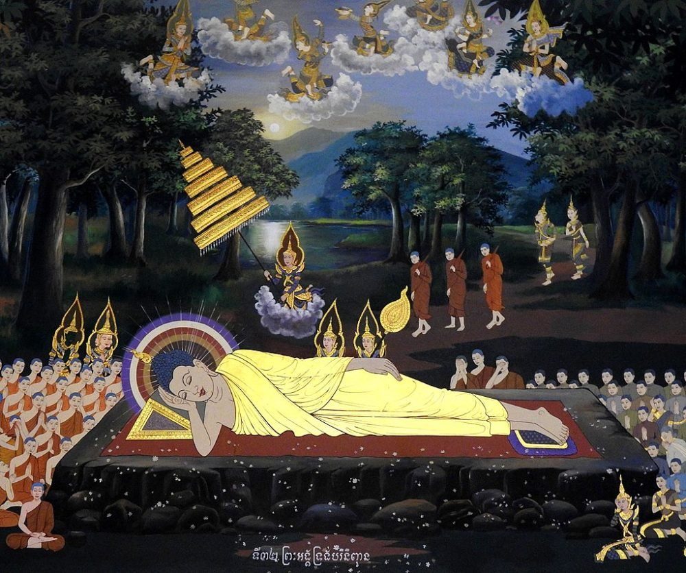A view into the future buddhist prophecies look4ward for Buddha mural art