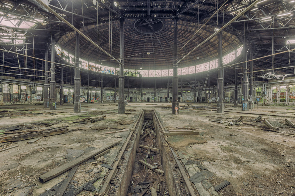 abandoned decay train depot