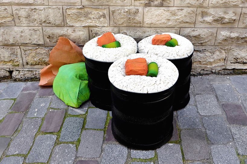 lor-k-french-artist-street-food-discarded-mattresses-designboom-05