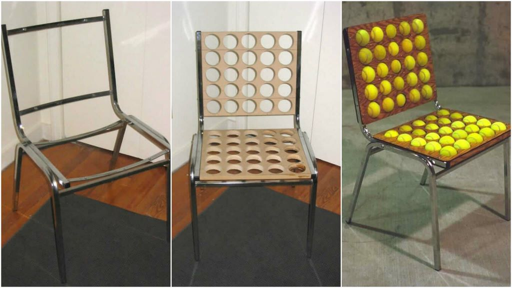 Diy Masterpiece Innovative Tennis Ball Chair To Comfort Your Back