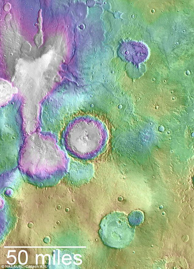 few lakes on Mars has been found 2