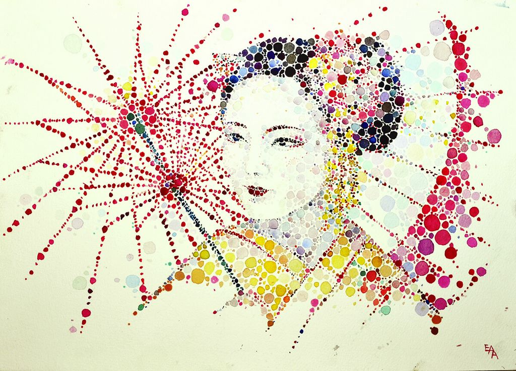 dotted watercolour painting 2