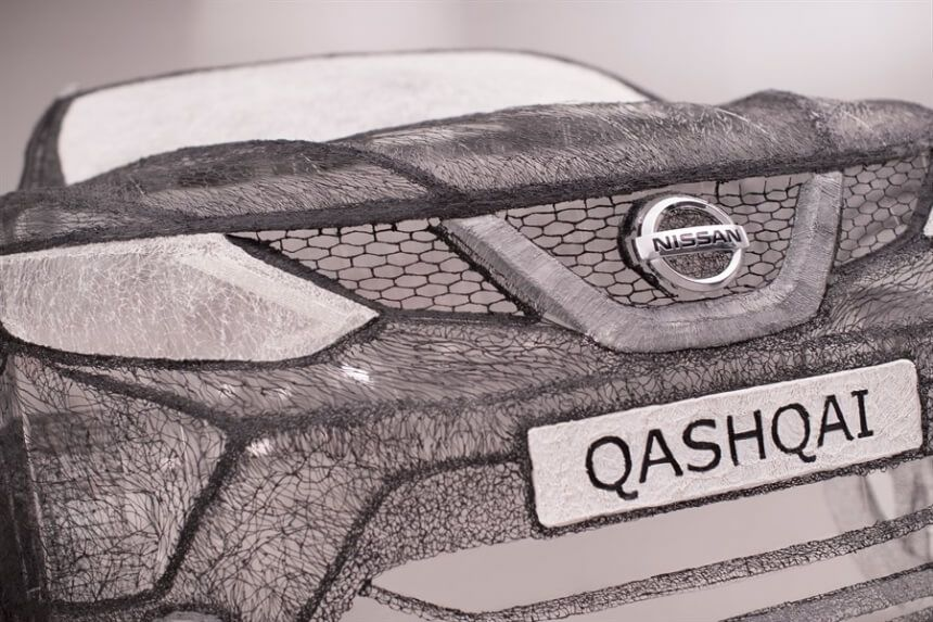 Students-Managed-To-Create A-Colossal-3D-Pen-Sculpture-Of Nissan-Car11