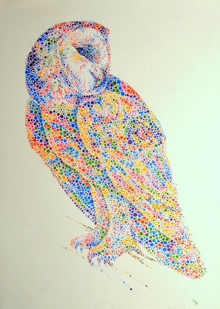 dotted watercolour painting 8