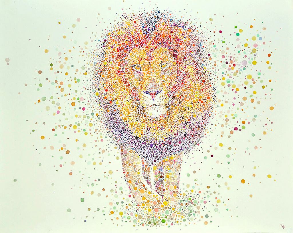 dotted watercolour painting 3