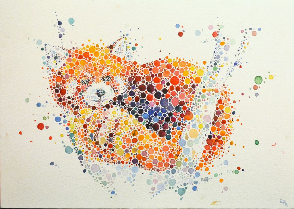 dotted watercolour painting 5