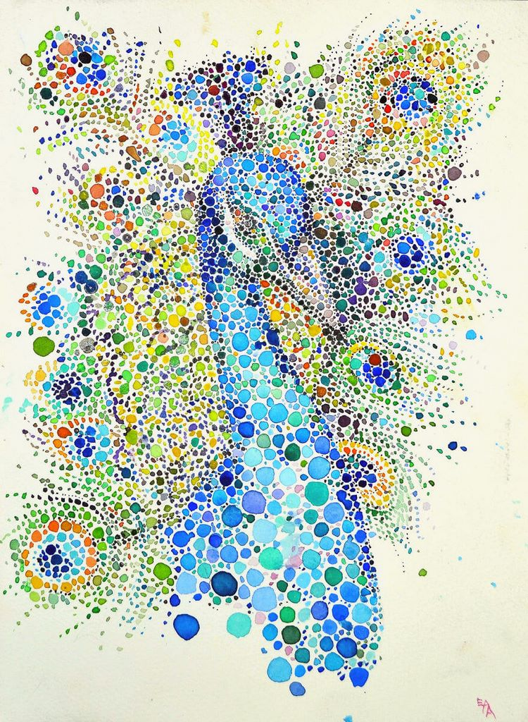 dotted watercolour painting 12