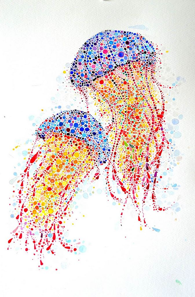 dotted watercolour painting 10