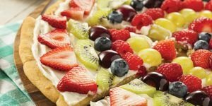 cream fruit cheese pizza