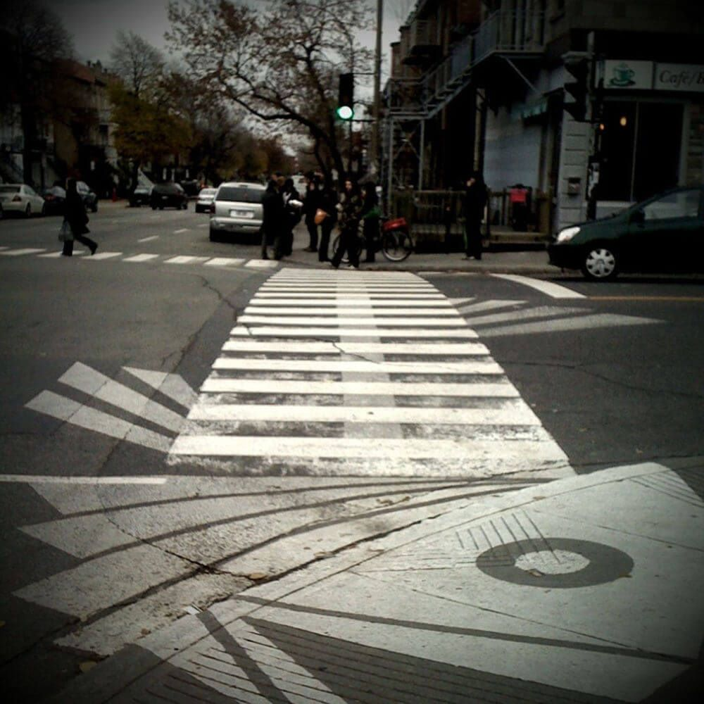 art crossings pedestrians