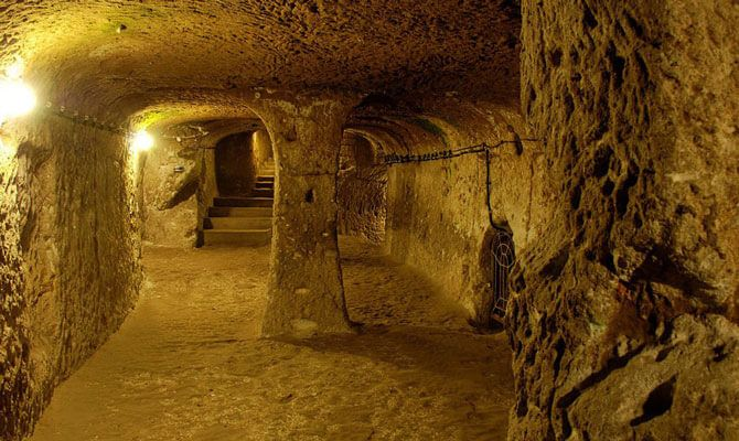 underground tunnels ancient huge
