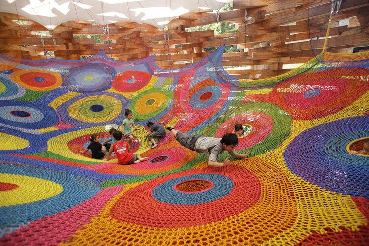crochet playground in Japan