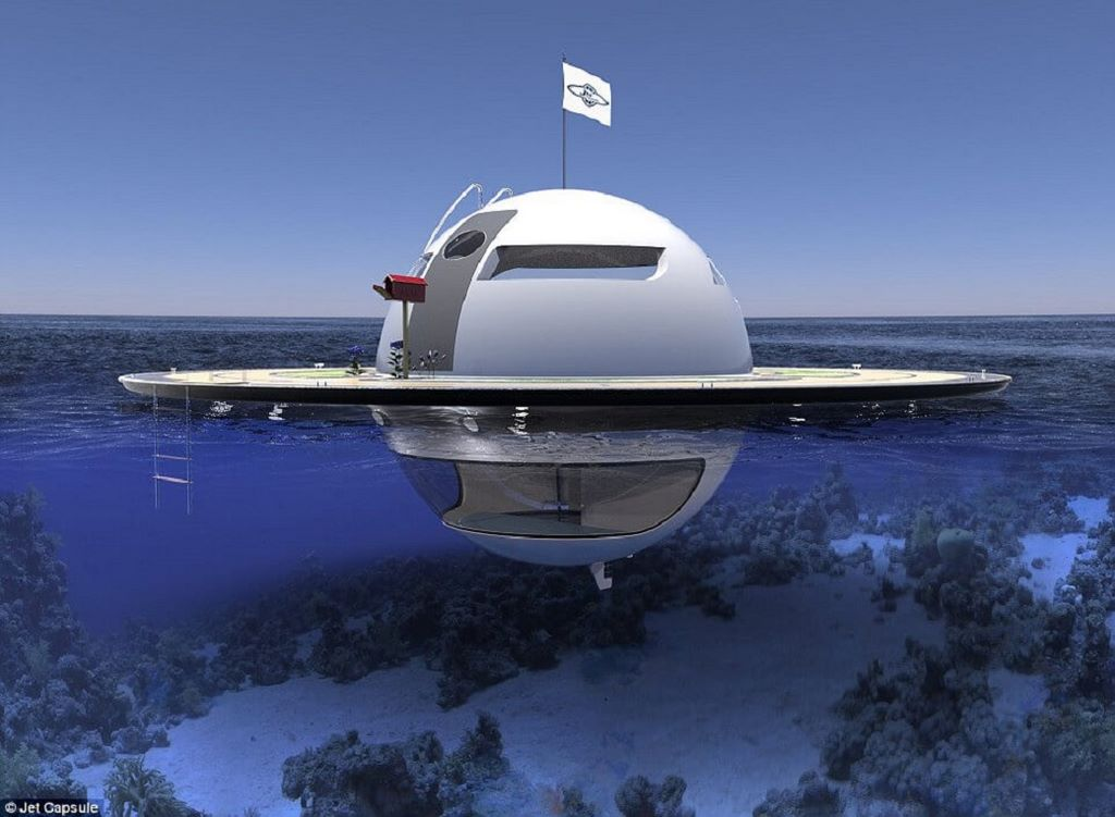 These UFO-Like Houseboats Floating On The Ocean's Surface Are Designed To Be Unsinkable