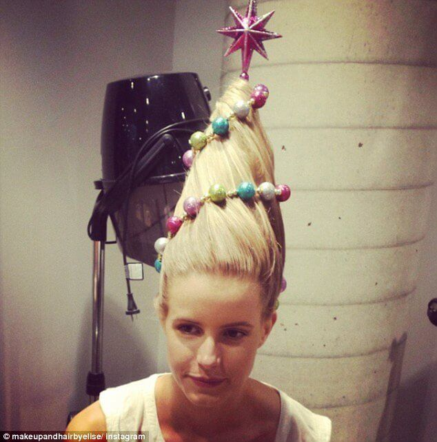 Christmas Tree Hair Is The New Festive Beauty Trend