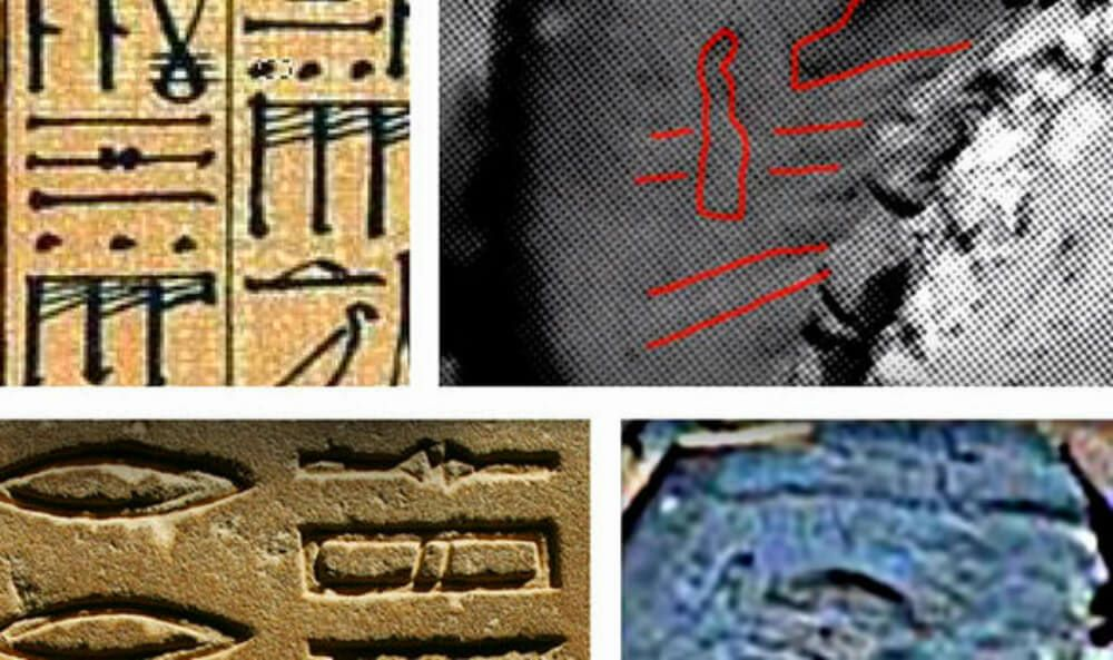 Nasa Images Show Ancient Hieroglyphs Carved Into Rock On Mars