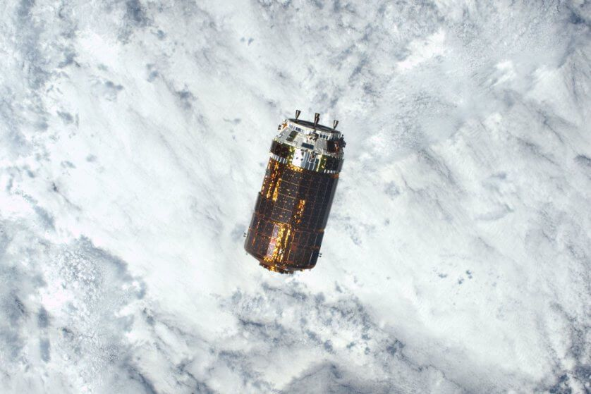 This NASA photo obtained Dec. 14, 2016 shows an image taken by Expedition 50 Commander Shane Kimbrough of NASA of the Japan Aerospace Exploration Agencys Kounotori H-II Transfer Vehicle (HTV-6) as it approached the International Space Station on Dec. 12, 2016.