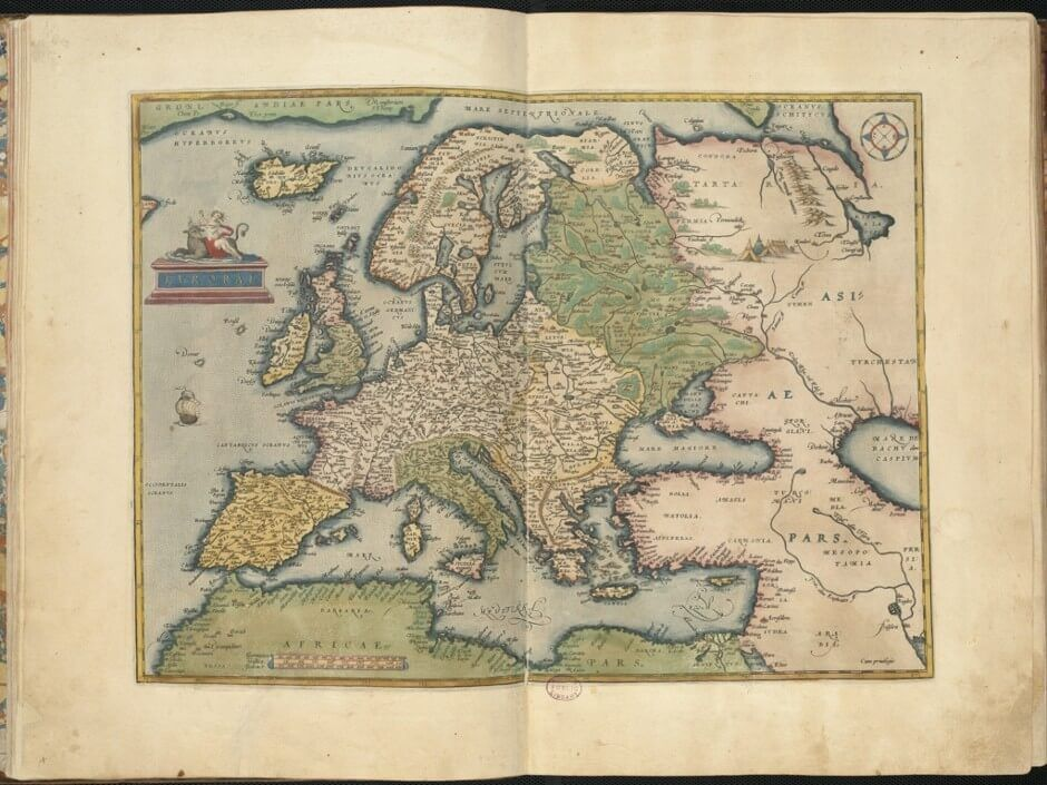 """Europae,"" 1570, illustrates Europe and Africa."