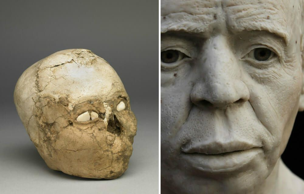 Reconstructed Face of A Neolithic Man Dates Back 9,500 Years Ago