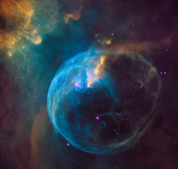 The Bubble Nebula, also known as NGC 7635, is an emission nebula located 8000 light-years away, image released on April 21, 2016.