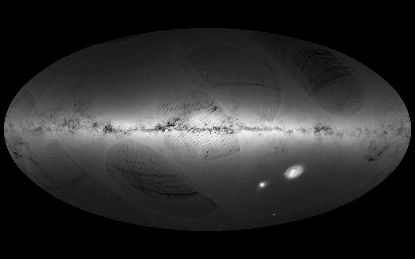 An all-sky view of stars in our Galaxy – the Milky Way – and neighboring galaxies, based on the first year of observations from ESA's Gaia satellite, from July 2014 to Sept. 2015. Released Sept. 14, 2016.