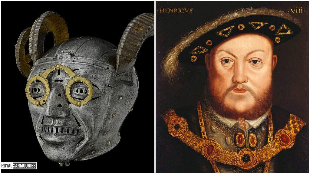 Henry VIII's Demon-Faced Horned Helmet Was Designed For Use In Parades Rather Than For Combat