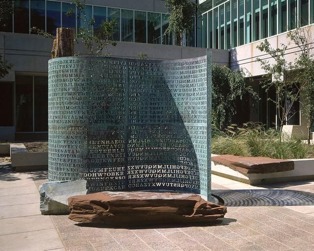 "The ""Kryptos"" Sculpture At The Headquarters Of The CIA Contains A Secret Code"