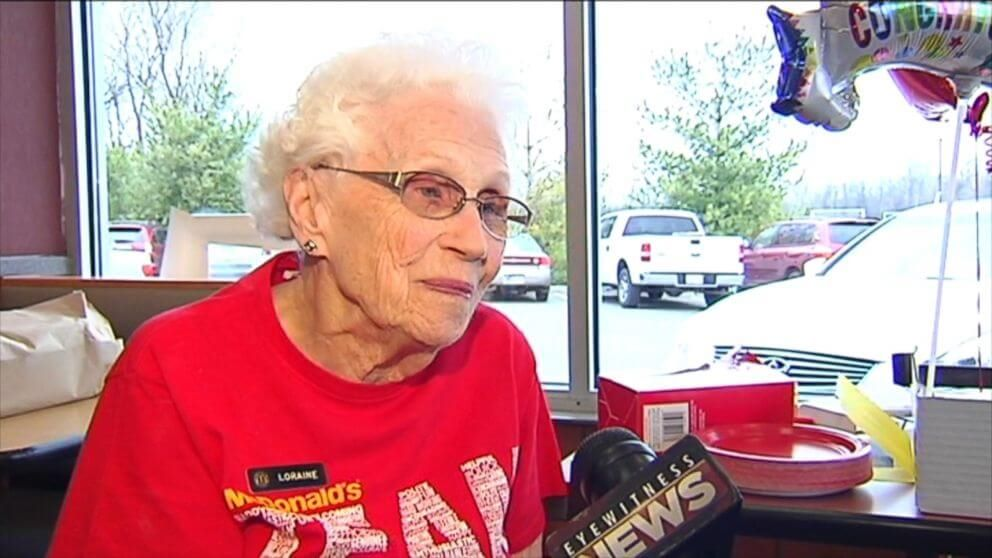 94-Year-Old Working At McDonald's Does Not Intend To Retire