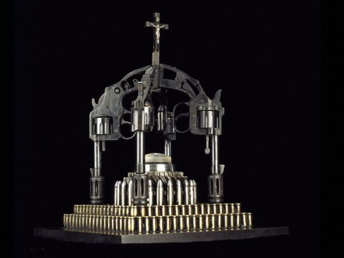 War And Peace: Religious Sculptures From Guns And Ammunition_