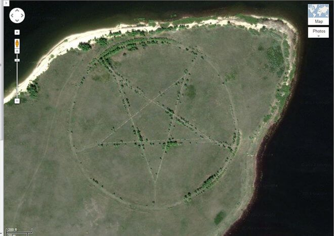 17 Of The Strangest Sites Captured On Google Earth