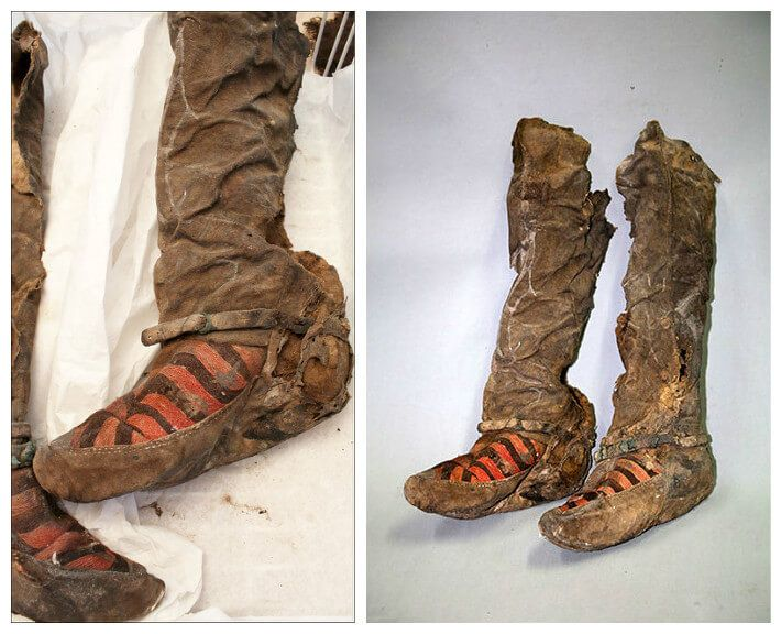 """Ancient Mongolian Mummy Buried In """"Adidas Boots"""" 1,100 Years Ago"""