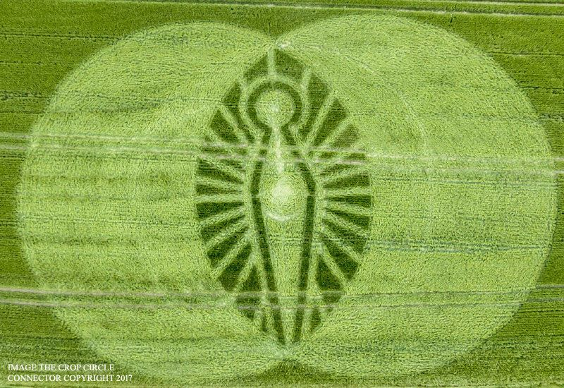 New Crop Circle In Dorset, England Might Be Connected To The Cerne Abbas Giant