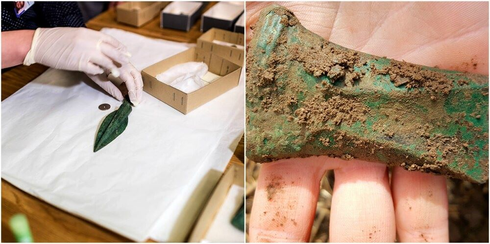 'Spectacular' 3,000-Year-Old Axe Heads Uncovered In Norwegian Field