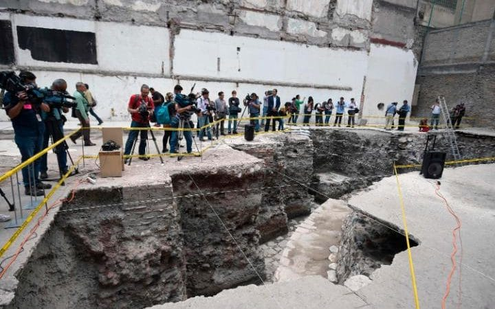 Giant Ancient Aztec Temple Discovered In Mexico City