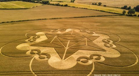 Metatron's Cube Crop Formation: Is This Sacred Geometry Message?