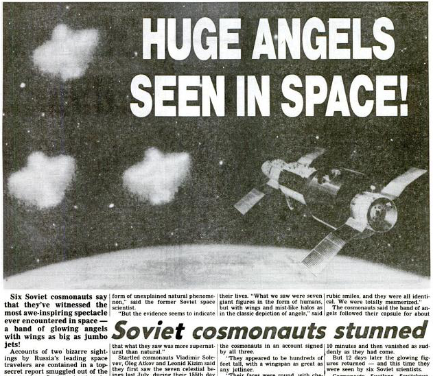 Space Angels: What Did Russian Cosmonauts See Aboard The Saluyt 7?